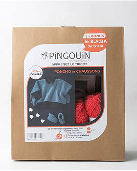 Kit poncho + chaussons Baby Soft