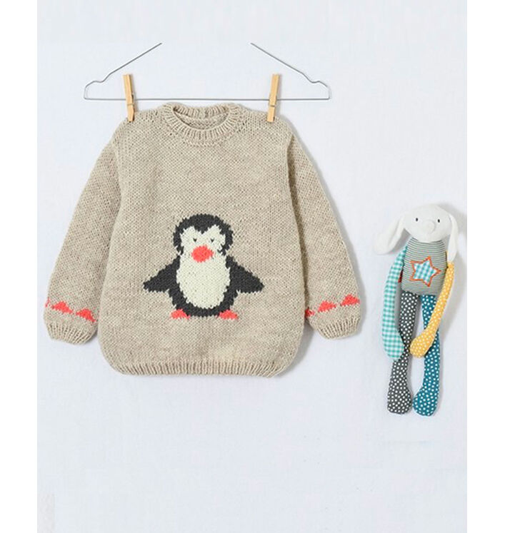 Modèle enfant - Pull Jacquard Pingouin