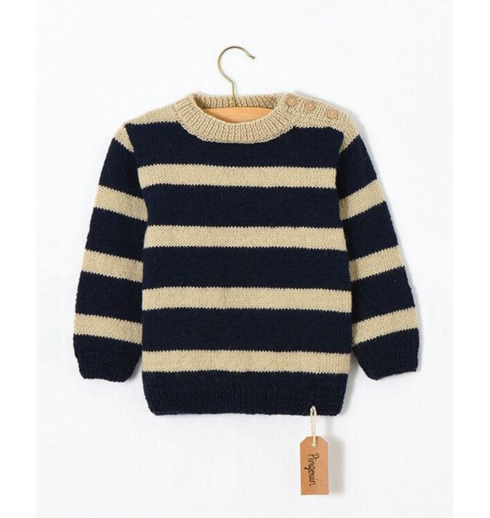 Modèle enfant - Pull rayé Pingo Wool