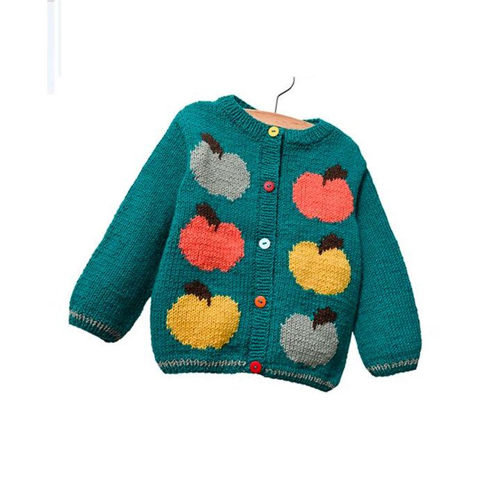 Modèle enfant - Cardigan pomme emeraude
