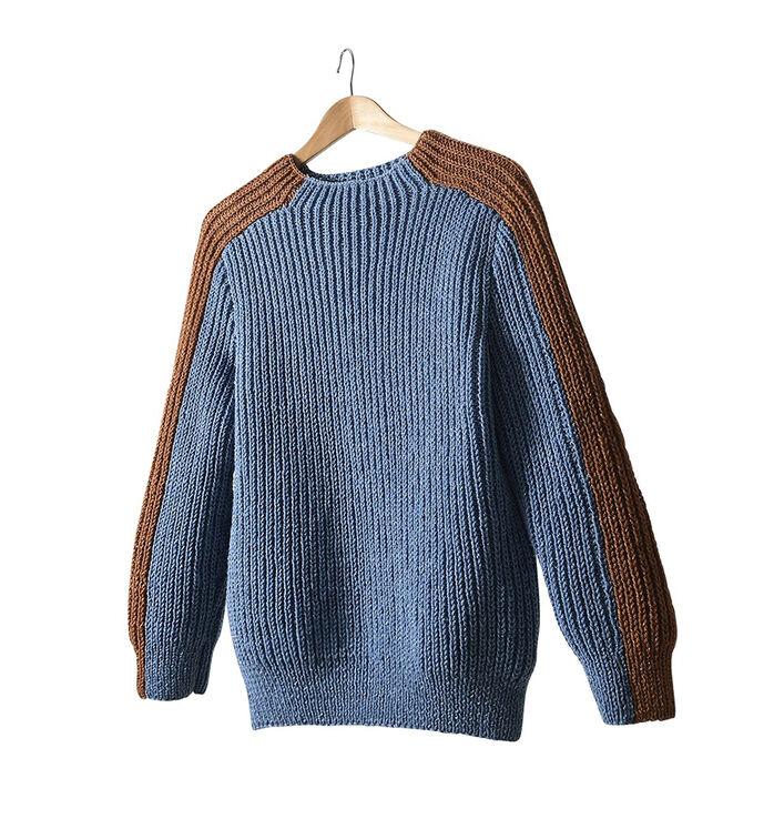 Modèle femme - Pull Ange jeans pépite