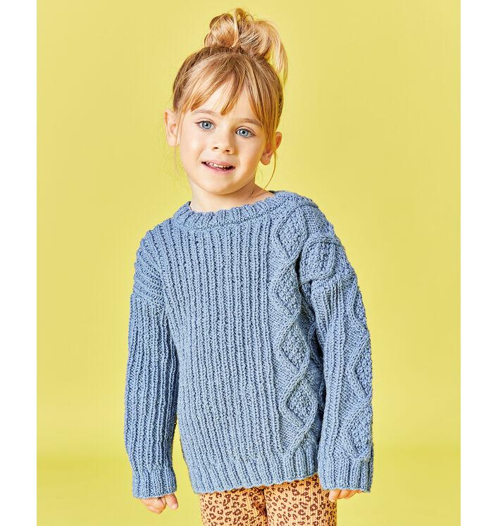 Modèle enfant- Pull fantaisie lurex Elly