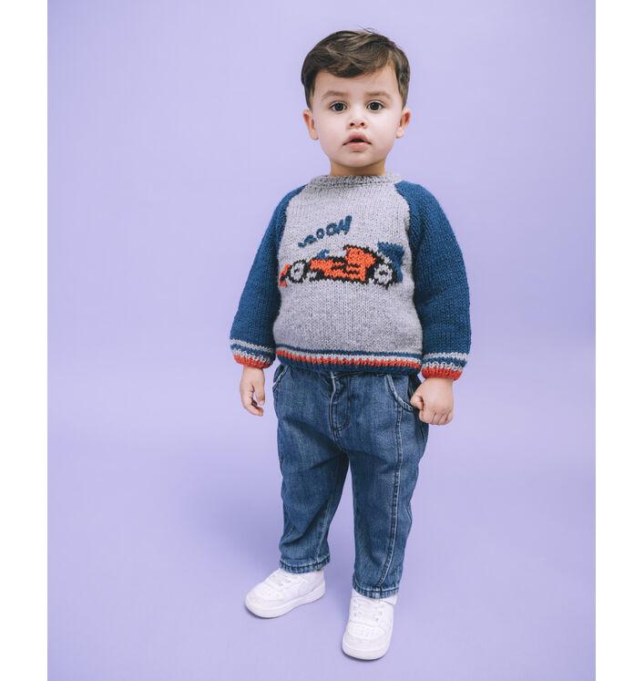 Fiche Modèle enfant - Pull jacquard voiture