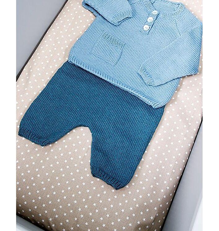 Modèle layette - Pantalon bleu marine