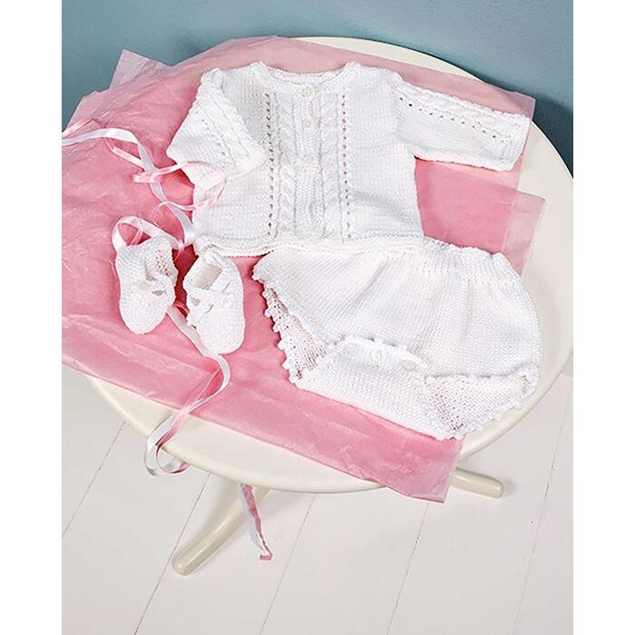 Modèle layette - Culotte bloomer blanche