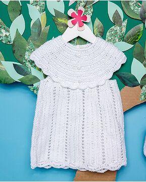 Modèle layette - Robe au crochet
