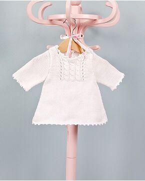 Modèle layette - Robe torsades