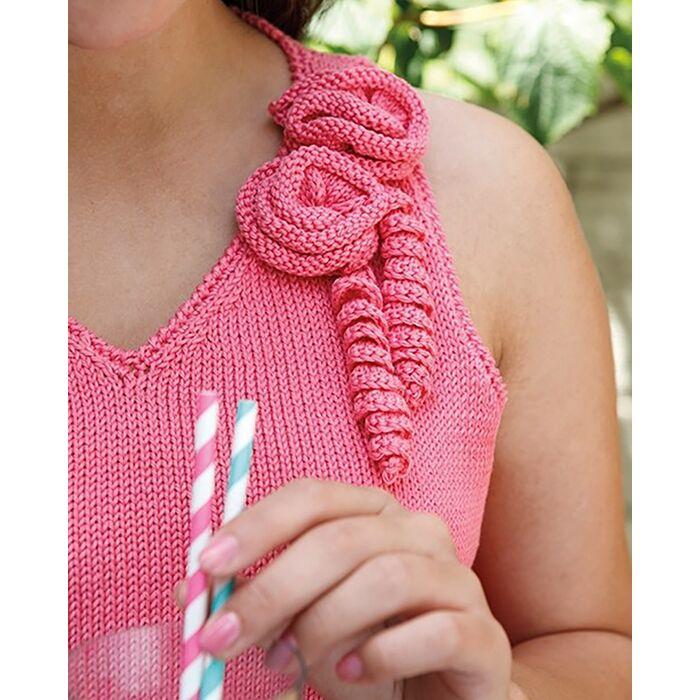 Modèle femme - Débardeur tricoté