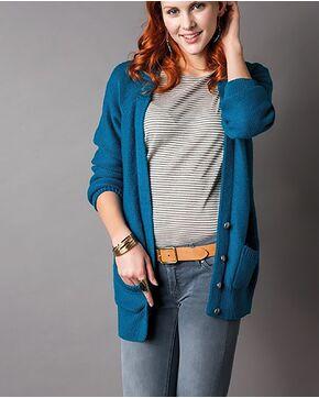 Modèle femme - Gilet long à poches