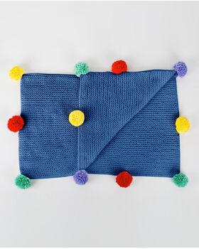 Kit couverture layette pompons
