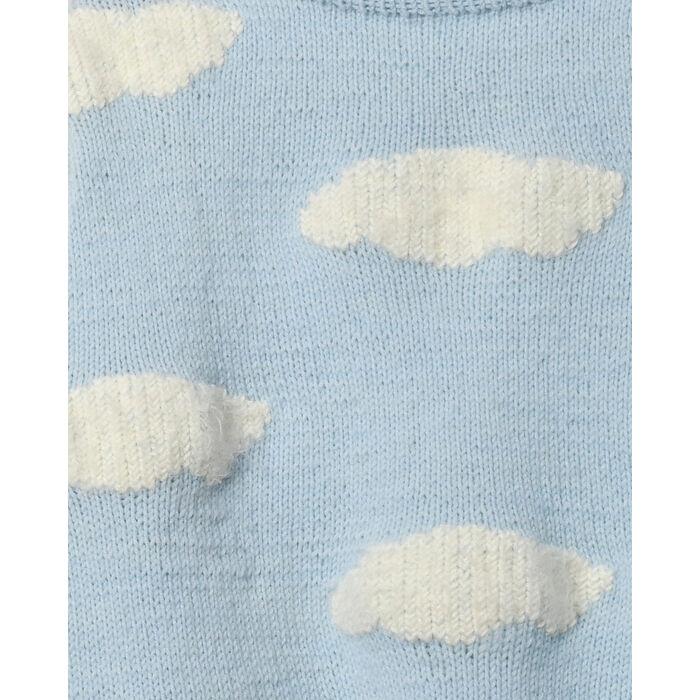 Modèle femme - Pull brodé nuage Sky