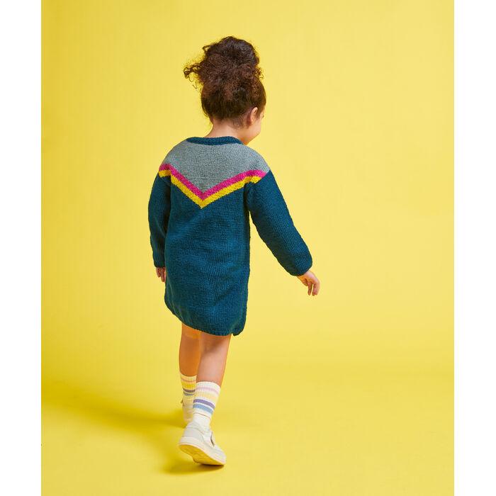 Modèle enfant - Robe jacquard zoé