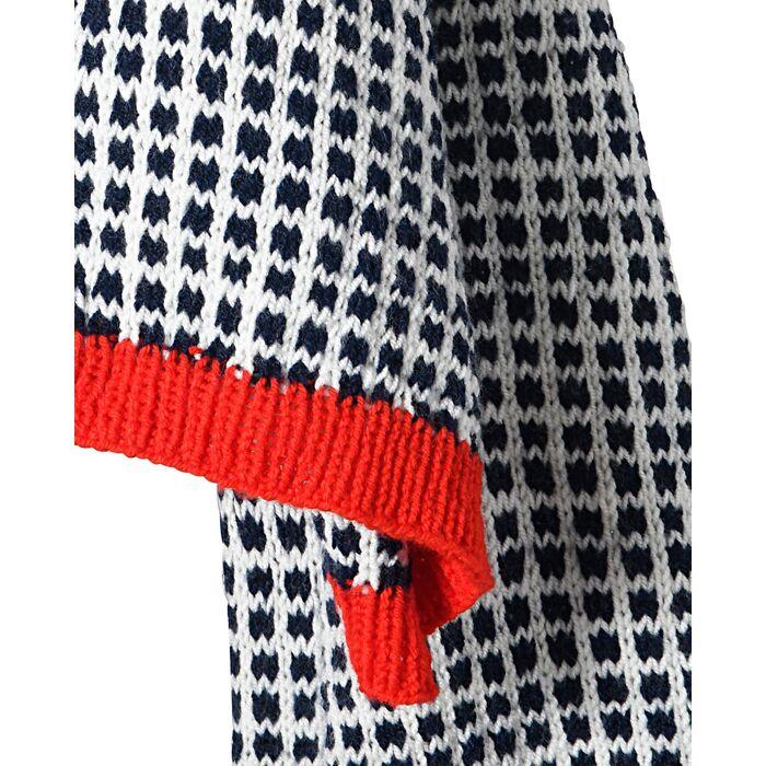 Fiche Modèle femme - Bonnet + écharpe jacquard