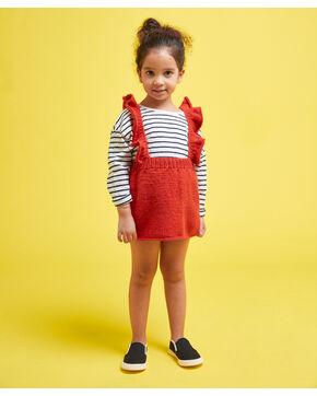 Modèle enfant - Salopette jupe cerise