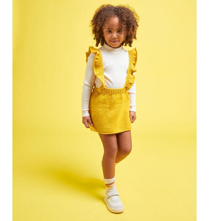 Fiche Modèle enfant - Salopette jupe soufre