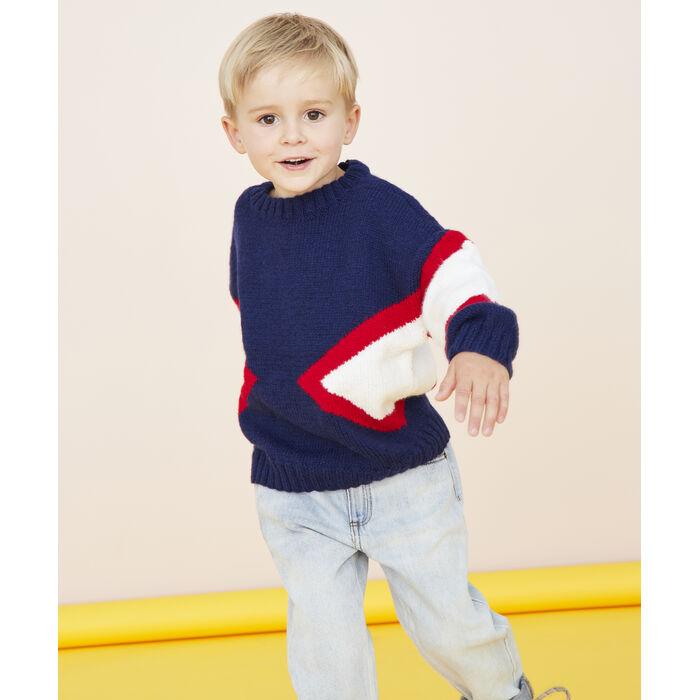 Fiche Modèle enfant - Pull marine Malo
