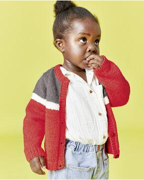 Modèle enfant - Gilet rouge Marlow