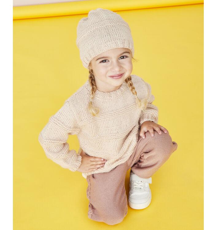 Modèle enfant - Bonnet beige Noa