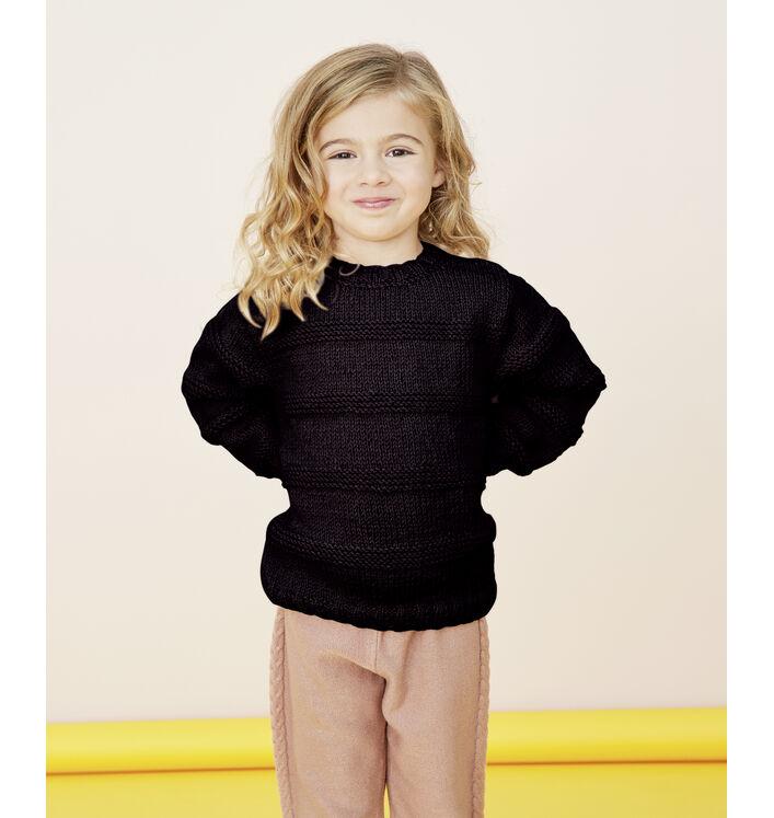Modèle enfant - Pull noir Basil