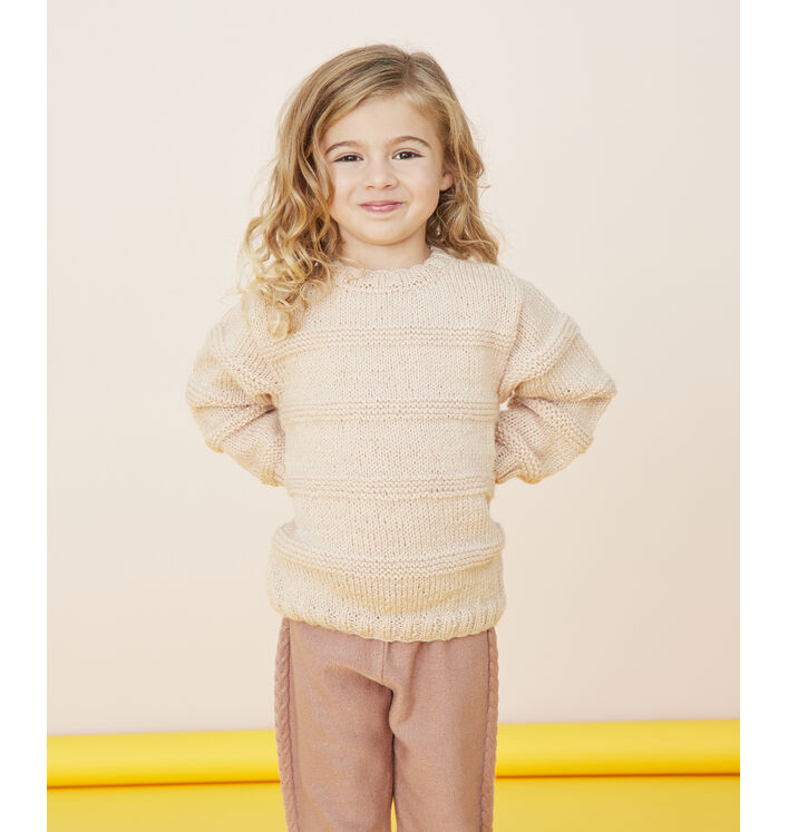 Modèle enfant - Pull beige Basil