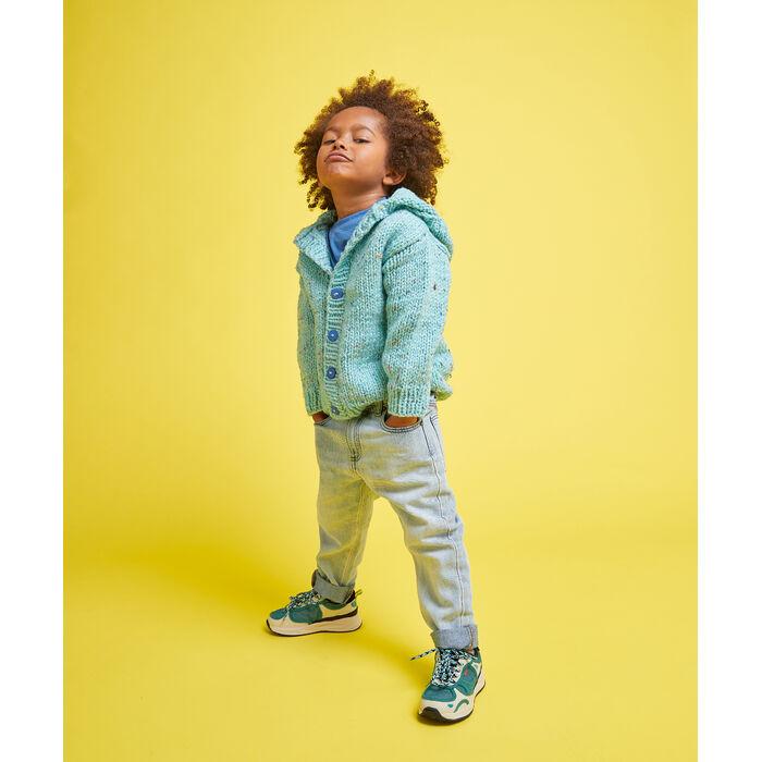 Fiche Modèle enfant - Blouson tweedé jade