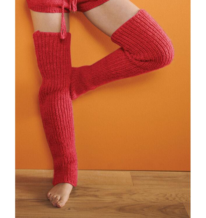 Modèle femme - Guêtres rouge Anaya