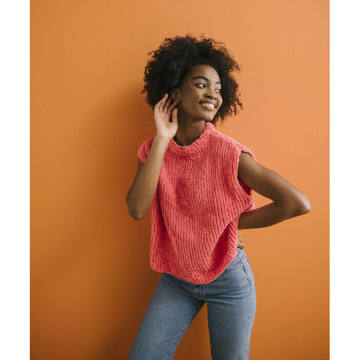 Modèle Femme - Pull Tandem Corail