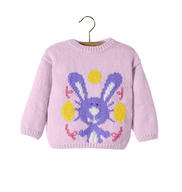 Modèle Enfant - Pull lapin Lilas
