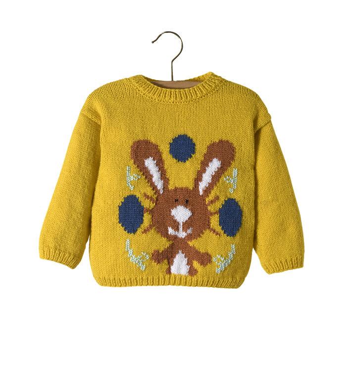 Modèle Enfant - Pull lapin Citron