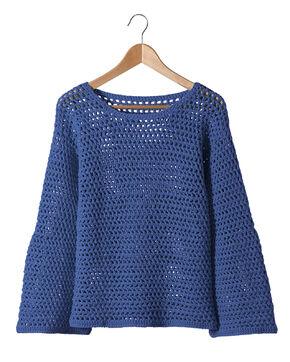 Modèle Femme - Pull Antilles bleu
