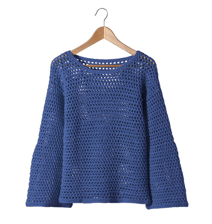 Fiche Modèle Femme - Pull Antilles bleu
