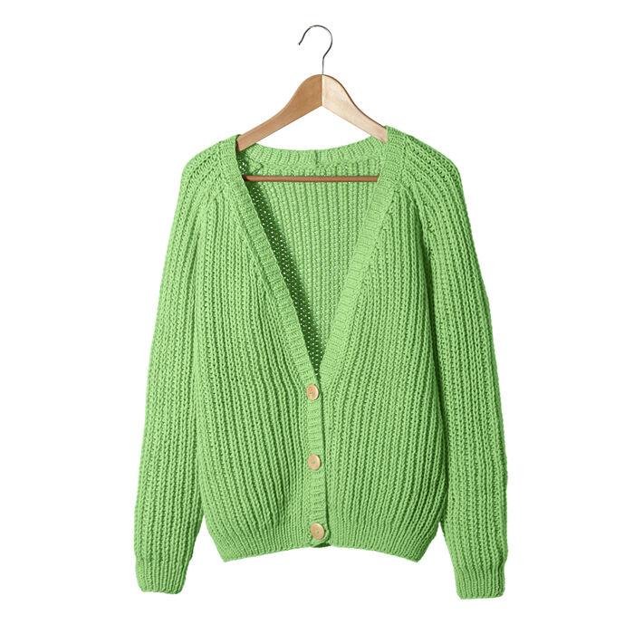 Modèle Femme - Gilet Astrid vert
