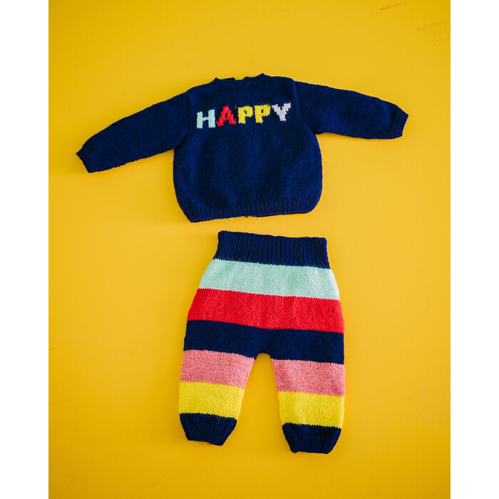 Fiche Modèle Layette -Pantalon+Brassière Happy