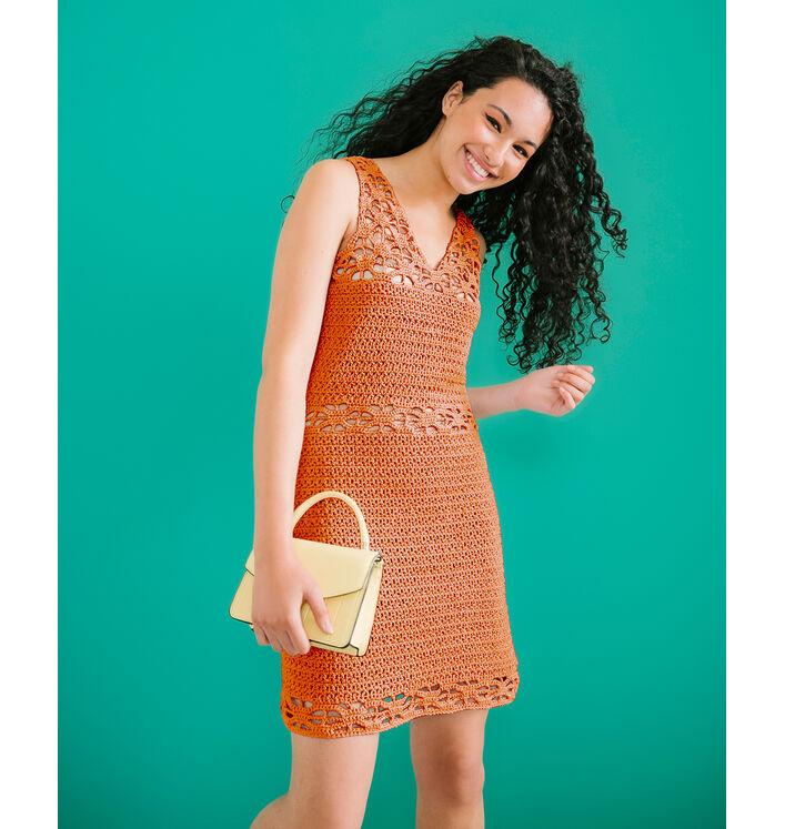 Modèle Femme - Robe Cony Orange Brûlé