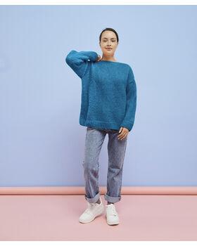 Modèle femme - Pull Andréa Bleu Vif