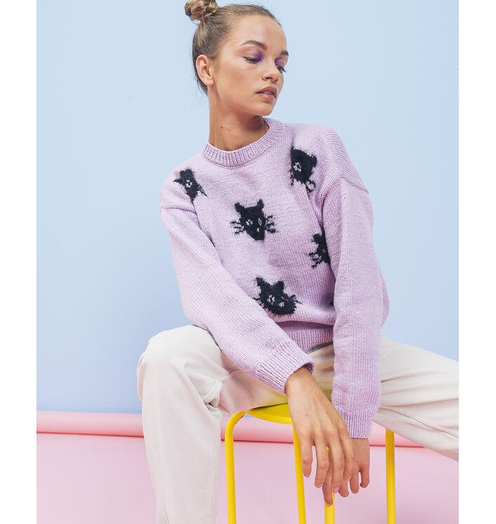 Modèle Femme - Pull Cats